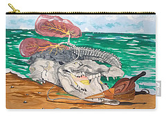 Carry-all Pouch featuring the painting Crocodile Emphysema by Lazaro Hurtado