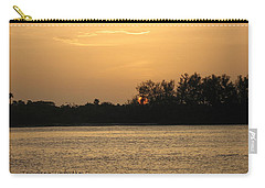 Carry-all Pouch featuring the photograph Crocodile Eye by Kathy Barney