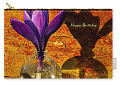 Crocus Floral Birthday Card Carry-all Pouch