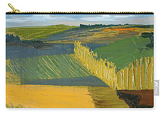 Carry-all Pouch featuring the painting Crop Fields by Erin Fickert-Rowland