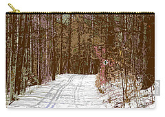 Carry-all Pouch featuring the photograph Cross Country Trail by Nina Silver