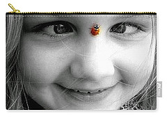 Cross-eyed For Ladybugs Carry-all Pouch by Faith Williams