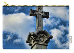 Carry-all Pouch featuring the photograph Cross Face 3 by Lesa Fine