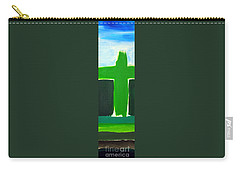 Green Cross On Hill Carry-all Pouch