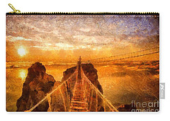 Cross That Bridge Carry-all Pouch by Catherine Lott