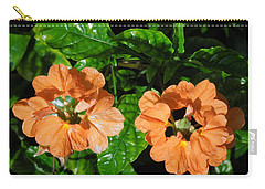 Carry-all Pouch featuring the photograph Crossandra by Ron Davidson