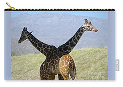 Crossed Giraffes Carry-all Pouch