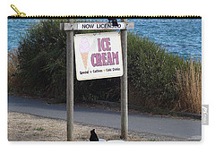 Carry-all Pouch featuring the photograph Crow In The Bucket by Cheryl Hoyle