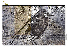 Crow Number 84 Carry-all Pouch by Carol Leigh