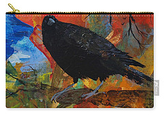 Crow On A Branch Carry-all Pouch
