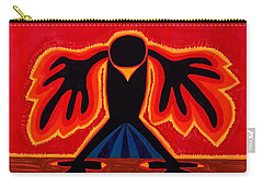 Crow Rising Original Painting Carry-all Pouch by Sol Luckman
