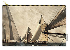 A Vintage Processed Image Of A Sail Race In Port Mahon Menorca - Crowded Sea Carry-all Pouch by Pedro Cardona
