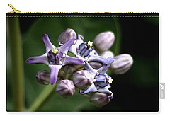 Carry-all Pouch featuring the photograph Crown Flower - Purple by Ramabhadran Thirupattur