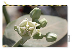 Carry-all Pouch featuring the photograph Crown Flower by Ramabhadran Thirupattur