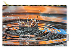 Crown Shaped Water Drop Macro Carry-all Pouch by Teresa Zieba