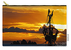 Crows Nest Silhouette On Newfoundland Coast Carry-all Pouch