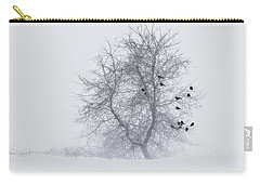Crows On Tree In Winter Snow Storm Carry-all Pouch