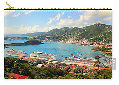 Cruise Ships In St. Thomas Usvi Carry-all Pouch