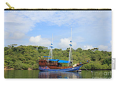 Carry-all Pouch featuring the photograph Cruising Yacht by Sergey Lukashin