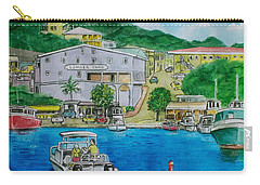Cruz Bay St. Johns Virgin Islands Carry-all Pouch by Frank Hunter