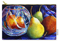 Carry-all Pouch featuring the painting Crystal And Pears by Roger Rockefeller