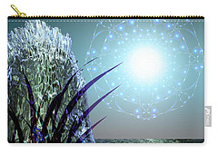 Carry-all Pouch featuring the digital art Crystal Breathing Rock by Rosa Cobos