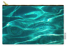 Crystal Clear Water. Blue Topaz Carry-all Pouch by Jenny Rainbow