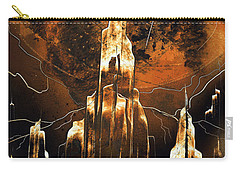 Carry-all Pouch featuring the painting Crystal Complex by Jason Girard