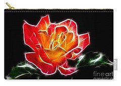 Carry-all Pouch featuring the photograph Crystal Rose by Mariola Bitner