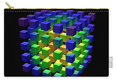 Carry-all Pouch featuring the digital art Cube Of Cubes... by Tim Fillingim