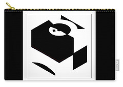 Carry-all Pouch featuring the digital art Cube by Wendy J St Christopher