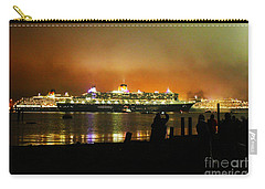 Carry-all Pouch featuring the photograph Cunard's 3 Queens by Terri Waters