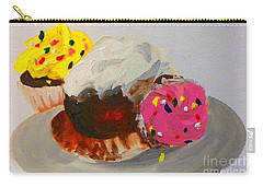 Cupcakes Carry-all Pouch by Marisela Mungia