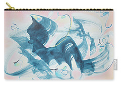 Curiosity Finds The Cat Carry-all Pouch by Asha Carolyn Young