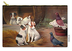 Carry-all Pouch featuring the painting Curious Friends by Hazel Holland