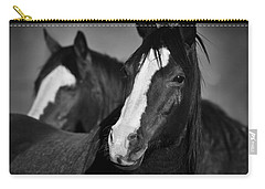 Curious Horses Carry-all Pouch by Ana V Ramirez
