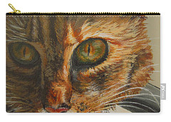 Carry-all Pouch featuring the painting Curious by Karen Ilari