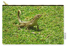 Curly-tailed Lizard Carry-all Pouch by Ron Davidson