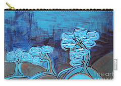 Curly Trees In Blu Carry-all Pouch