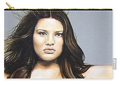 Carry-all Pouch featuring the painting Curvy Beauties - Tara Lynn by Malinda  Prudhomme