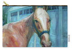 Custom Pet Portrait Painting - Original Artwork -  Horse - Dog - Cat - Bird Carry-all Pouch by Quin Sweetman