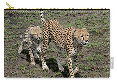 Cute Cheetah Wait For Me Mommy Carry-all Pouch