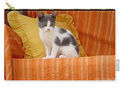Carry-all Pouch featuring the photograph Cute Kitty by Vicki Spindler