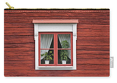 Cute Window On Red Wall Carry-all Pouch