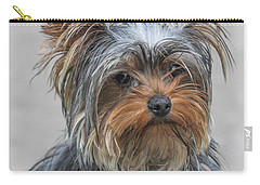 Cute Yorky Portrait Carry-all Pouch