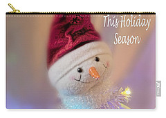 Cutest Snowman Christmas Card Carry-all Pouch by Janie Johnson