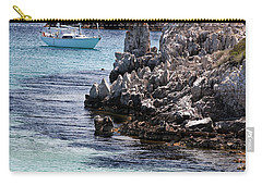 In Cala Pudent Menorca The Cutting Rocks In Contrast With Turquoise Sea Show Us An Awsome Place Carry-all Pouch