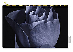 Cyan Rose Portrait Carry-all Pouch