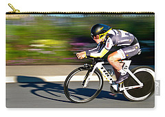Carry-all Pouch featuring the photograph Cycling Prologue by Kevin Desrosiers