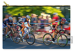 Carry-all Pouch featuring the photograph Cycling Pursuit by Kevin Desrosiers